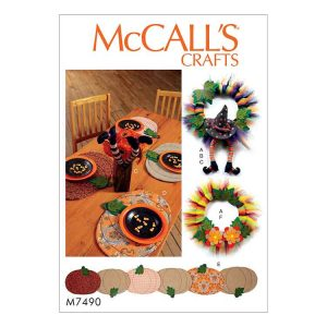 M7490 Pumpkin placemats / Halloween decorations