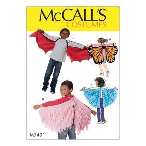 M7491 Kids' bat, butterfly or fairytale wings