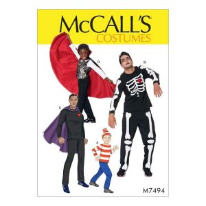 M7494 Mens'/Boys' skeleton, hero, vampire & character costumes