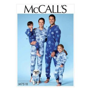 M7518 Mens' / Misses' / Boys' / Girls' / Children's jumpsuit and dog coat