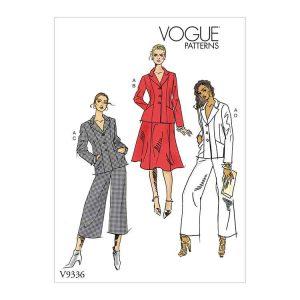 V9336 Misses'/Misses' Petite Jacket, Skirt and Pants