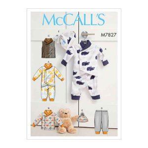 M7827 Infants Bunting, Jacket, Vest, Pants and Hat
