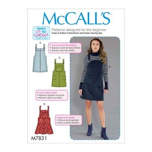 M7831 Misses' Jumpers (Pinafore Dresses)