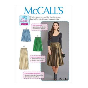 M7844 Misses' Skirts