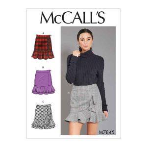 M7845 Misses' skirt