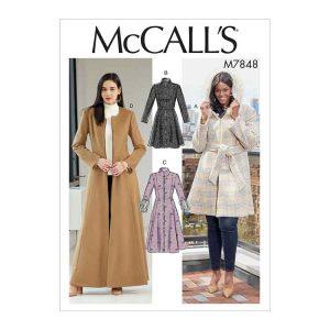 M7848 Misses'/Miss Petite and Women's/Women Petite Coats and Belt