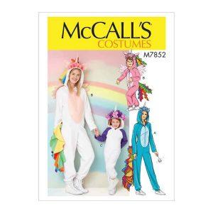 M7852 Miss/Children's/Girls' Unicorn Costume