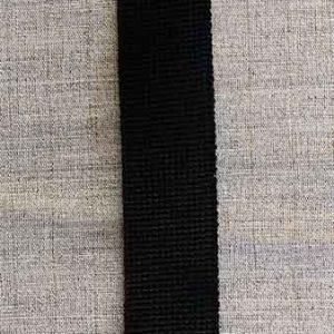 40mm cotton/acrylic webbing (black)