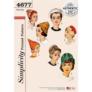 Simplicity 4677 Vintage Set of Hats