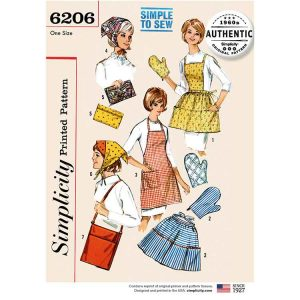 Simplicity 6206 Vintage Gifts and Accessories