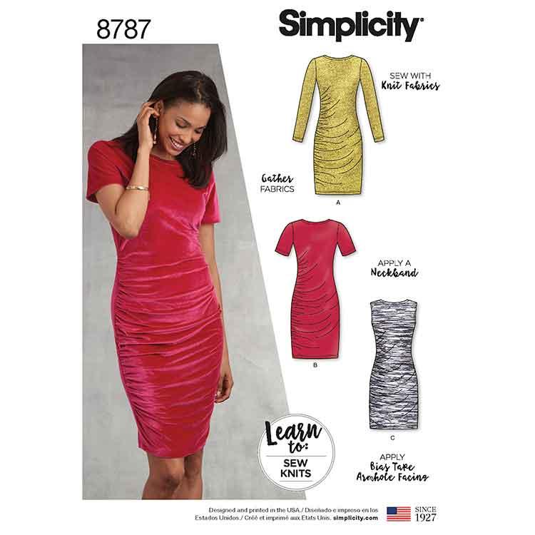 Simplicity 8787 Learn to Sew Knit Dress - Sew Irish