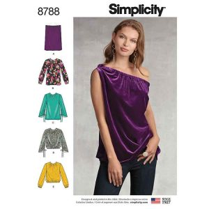 Simplicity 8788 Misses  Pullover Tops
