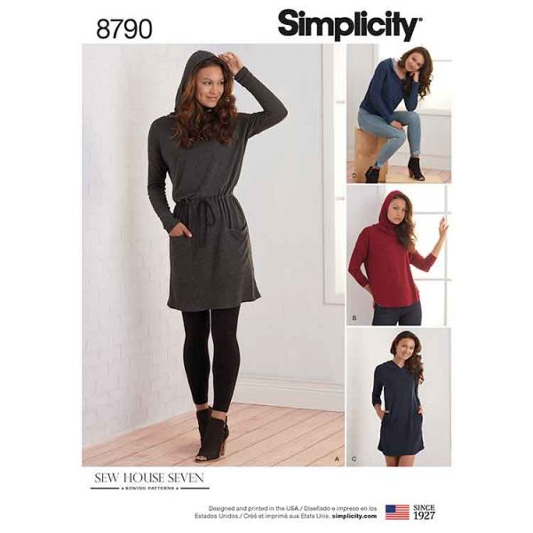 Simplicity 8790 Misses Knit Dresses and Tunics