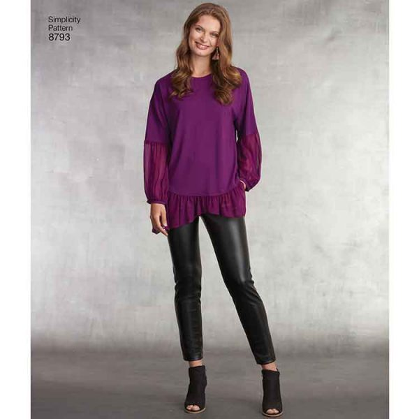 Simplicity 8793 Misses' Tunic with Knit Leggings