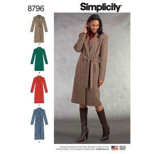 Simplicity 8796 Misses/ Petite Lined Coat