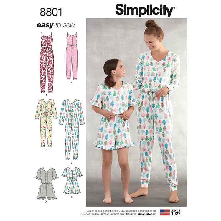 Simplicity 8801 Girls and Misses\' Knit Jumpsuit Romper - Sew Irish
