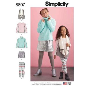 Simplicity 8807 Child and Girls  Sportswear