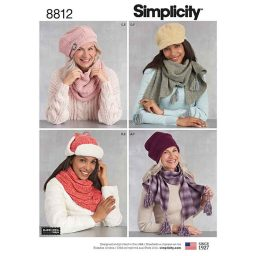 Simplicity 8812 Misses Cold Weather Accessories
