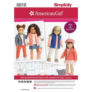 "Simplicity 8818 American Girl 18"" Doll Clothes"