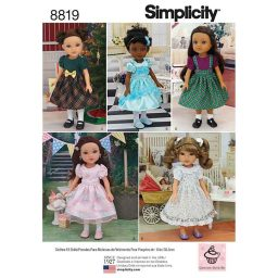 """Simplicity 8819 14"""" Doll Clothes"""