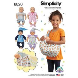 """Simplicity 8820 15"""" Baby Doll Clothes"""