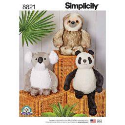 "Simplicity 8821 15"" Stuffed Animals"
