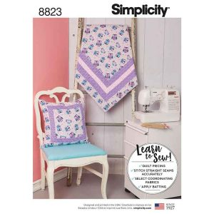Simplicity 8823 Quilted Blanket and Pillow