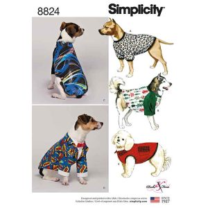Simplicity 8824 Dog Coats in Three Sizes
