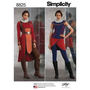 Simplicity 8825 Misses Knit Warrior Costumes