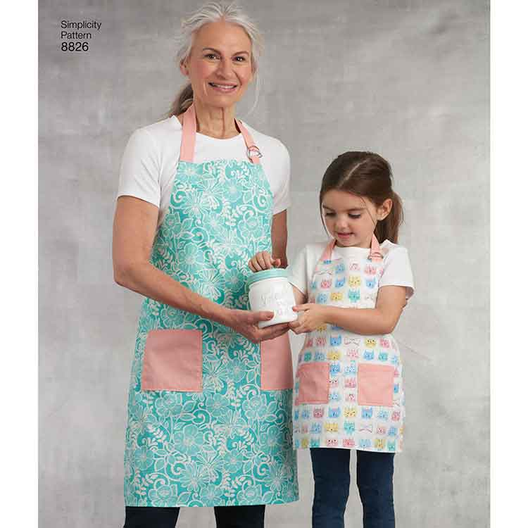Simplicity 8826 Child's and Misses' Aprons