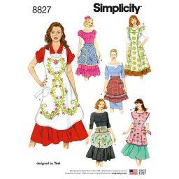 Simplicity 8827 Misses' Aprons