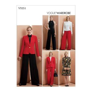 V9351 Misses' Jacket, Top, Dress, Pants and Jumpsuit