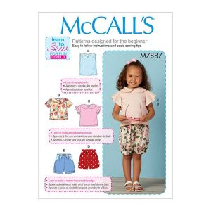 M7887 Toddler's Tops and Shorts