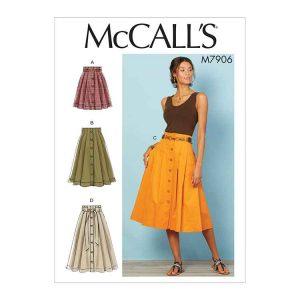 M7906  Misses' Skirts
