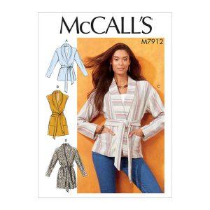 M7912 Misses' Jackets, Vest and Belt