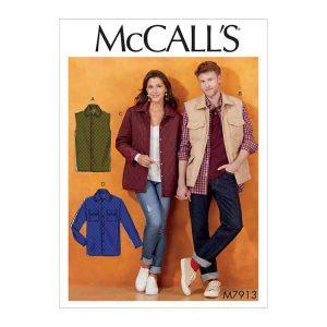 M7913 Misses'/Men's Jacket and Vest