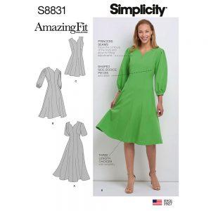 Simplicity 8831  Misses'/Women's Amazing Fit Dress