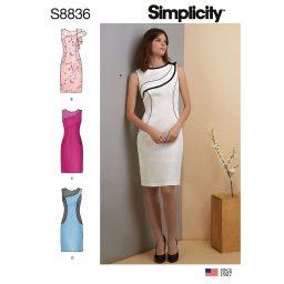 Simplicity 8836 Misses'/ Miss Petite Dress