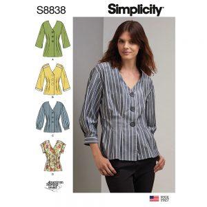 Simplicity 8838 isses'/Miss Petite Shirt