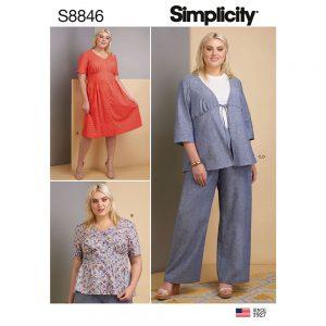 Simplicity 8846 Misses/Women's Dress, Top, Pants and Jacket