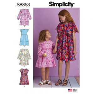 Simplicity 8853  Child's and Girls' Dress