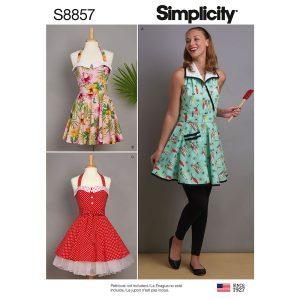 Simplicity 8857 Misses' Aprons