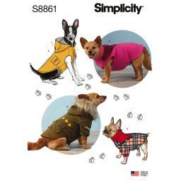 Simplicity 8861 Dog Coats