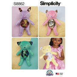 Simplicity 8862 Stuffed Animals