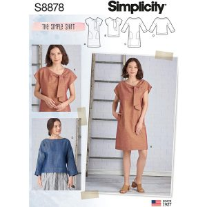 Simplicity S8878 Misses' Dresses and Tops
