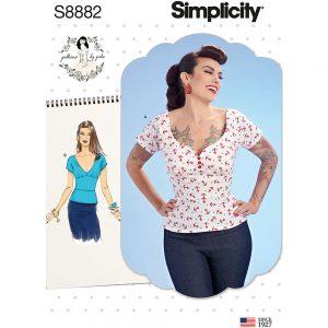 Simplicity S8882 Misses' Gertie Top