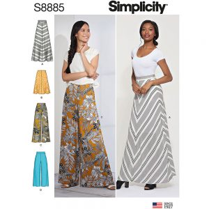 Simplicity S8885 Misses' Skirt and Pants