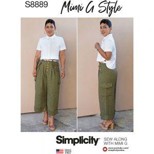 Simplicity S8889 Misses' Shirt and Wide Leg Pants