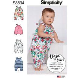 Simplicity 8894 Babies' Knit Romper