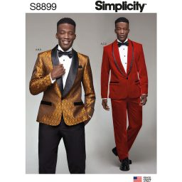 Simplicity 8899 Men's Tuxedo Jackets, Pants and Bow Tie